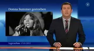 """Screenshot der Tagesschau vom 17.05.2012 - Anmoderation des Beitrags """"Donna Summer Gestorben"""""""